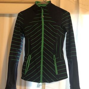 Lululemon Athletica zip up jacket striped